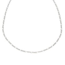 Sterling Silver 4mm Figaro Chain Necklace