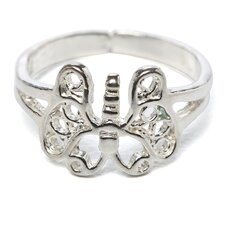 <strong>Jewelryweb</strong> Sterling Silver Butterfly Toe Ring