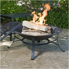 Round Cast Iron Copper Finish Fire Pit