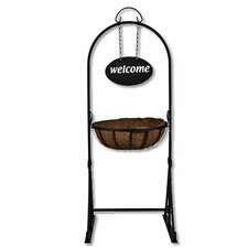 Welcome Garden Basket Hanging Planter