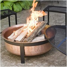 Fire Pit with Wrought Iron Stand