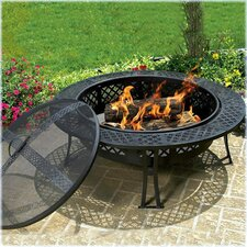 Diamond-Mesh Fire Pit