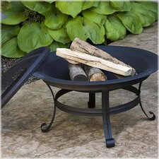 Fire Pit with Scroll Legs