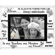 Moments Bevelled Glass Mum Photo Frame