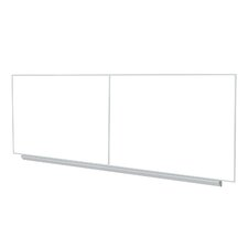 "48.5"" x 193.25"" Aluminum Frame Premium Porcelain Magnetic Whiteboard (2 pcs with joiner) - 4 Markers and Eraser"