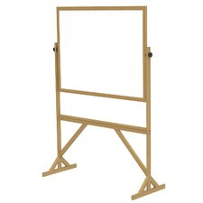 Reversible Acrylate Whiteboard with Wood Frame