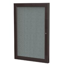 1-Door Wood Frame Enclosed Fabric Tackboard