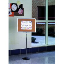 "18""H x 24""W Single Pedestal Bulletin Board"