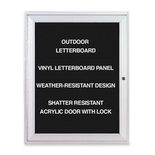 <strong>Ghent</strong> Outdoor Enclosed Letterboards,1-Door,3'x2',Aluminum Frame