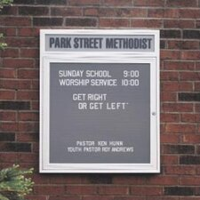 Illuminated Changeable Letterboard  (2 door)