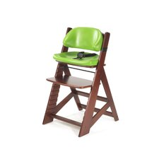 Height Right Kids Chair in Mahogany and Lime Comfort Cushion in Lime