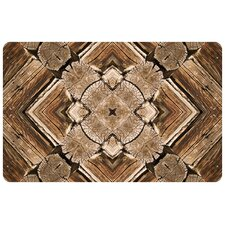 Rustic Wood Real Decorative Mat