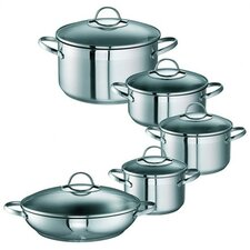 Merana 5 Piece Stainless Steel Cooking Pot Set
