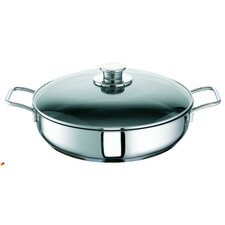 Jackpot 38.5cm Stainless Steel Braising Pan with Glass Lid