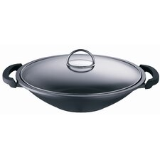 Globus i 42.5cm Non Stick Aluminium Wok with Accessories Set