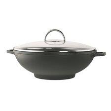Modena 32cm Non Stick Wok in Black with Lid