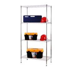 "All Purpose Wide Rack 72""H x 36""W 4 Shelf Shelving Unit"