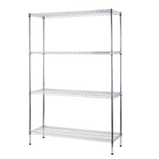 "All Purpose Wide Rack 72""H x 48""W 4 Shelf Shelving Unit"