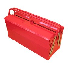 "19.5"" Cantilever Portable Metal Tool Box with 5 Trays"