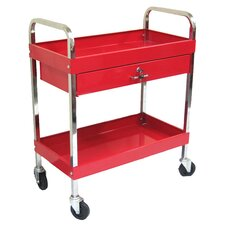 <strong>Excel Hardware</strong> Rolling Metal Tool Cart with 1 Drawer
