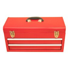 Portable Metal Tool Box with 2 Drawers