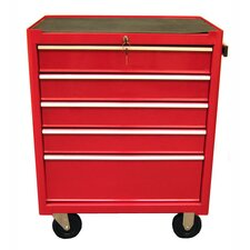 "27.1"" Roller Cabinet with 5 Drawers"