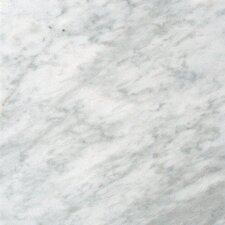 "SAMPLE - 18"" x 18"" Polished Marble Tile in Carrara White"