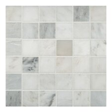 "2"" x 2"" Honed Marble Mosaic in Arabescato Carrara"