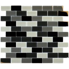 "12"" x 12"" Crystallized Glass Mosaic in Black Blend"