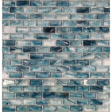 "2"" x 1"" Crystallized Glass Mosaic in Blue"
