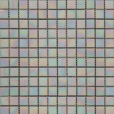 "12"" x 12"" Iridescent Glass Mosaic in Mediterranean Pearl"