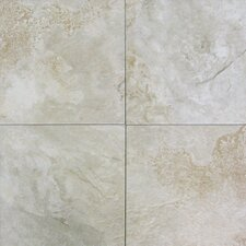 "Platino 13-1/10"" x 13-1/10"" Porcelain Tile in Ivory"