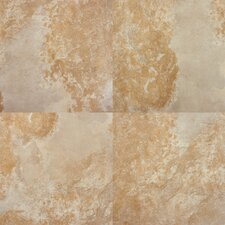 "Tulsa 13"" x 13"" Glazed Porcelain Tile in Beige"