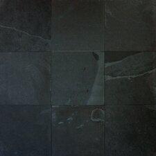 Cleft Slate Tile in Montauk Black