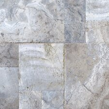 "12"" x 12"" Honed Travertine Tile in Silver"