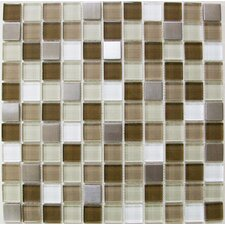 """1"""" x 1"""" Crystallized Glass Glossy Mosaic in Escorial Blend"""