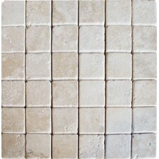 "12"" x 12"" Tumbled Travertine Mosaic in Durango"