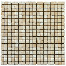 "12"" x 12"" Tumbled Travertine Mosaic in Tuscany Classic"