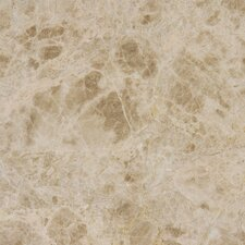 "18"" x 18"" Polished Marble Tile in Emperador Light"