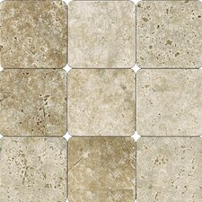 Tumbled Travertine Tile in Tuscany Walnut