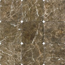 "SAMPLE - 18"" x 18"" Polished Marble Tile in Laurent Brown"