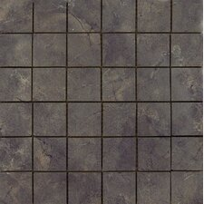 "Pietra Lagos 2"" x 2"" Porcelain Polished Floor and Wall Mosaic Tile in Glazed"