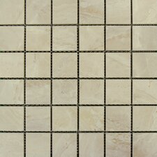 "SAMPLE - Pietra Onyx 2"" x 2"" Porcelain Polished Floor and Wall Mosaic Tile in High Gloss"