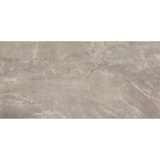 "Pietra Pearl 24"" x 12"" Porcelain Polished Floor and Wall Tile in High Gloss"