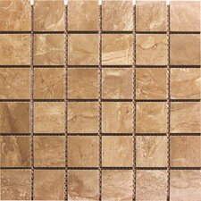 "Pietra Royal 2"" x 2"" Porcelain Polished Floor and Wall Mosaic Tile in Glazed"