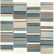 "Paradise Bay 12"" x 12"" Glass Stone Metal Blend Mesh Mounted Mosaic Tile in Multi"