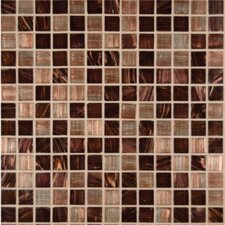 "3/4"" x 3/4"" Iridescent Glass Mosaic in Treasure Trail"