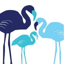 Animals Flamingo Stretched Canvas Art