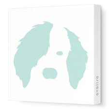 Animal Faces Dog Stretched Canvas Art
