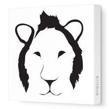 Animal Faces Lion Stretched Canvas Art